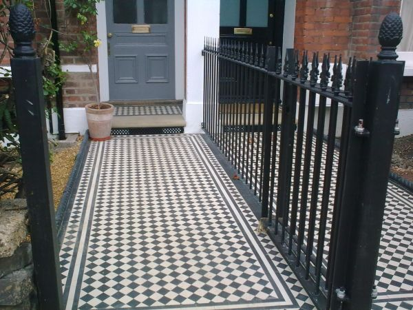 New front paths in Cavendish Road, laid in traditional style