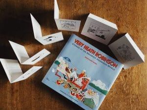 Our Christmas offer includes a Very Heath Robinson book and six Heath Robinson greetings cards.