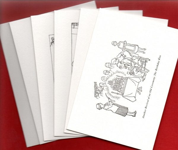 Photo of six cards