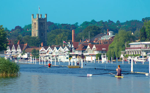 Colour photograph of the river at Henley-on-Thames.