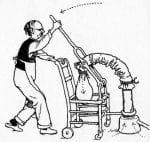 "This home-made vacuum cleaner bears more than a passing resemblance to James Murray Spangler's original makeshift invention. As Heath Robinson says, ""anyone can make a vacuum cleaner""."