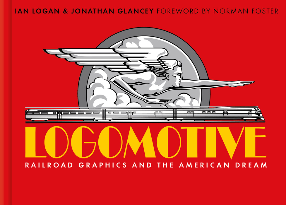 In this design by Bernard Higton the cover of Logomotive has a red background with a black-and-white graphic of Zephyrus, god of the west wind, in the centre. The graphic is drawn by Neil Gower.