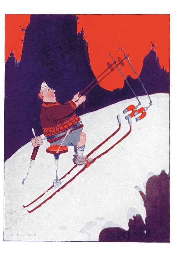 Entertain your friends at Christmas with Heath Robinson's Magnetic Ski-De-Luxe.
