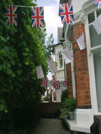 Bunting in Broomwood Road London SW