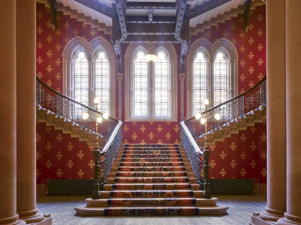 Grand staircase of St Pancras Hotel