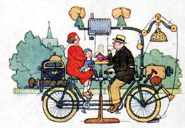 Weekend All-Weather Tandem, courtesy William Heath Robinson Trust.