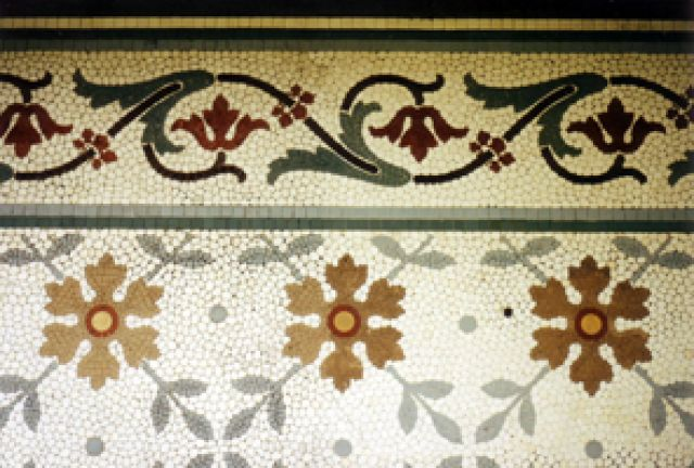 Mosaic pavement by Heritage Tile Conservation Ltd