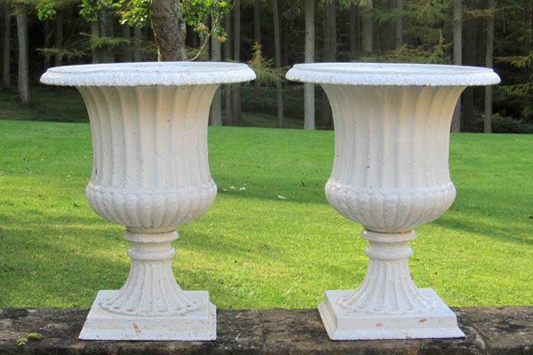 Lichen Garden Antiques pair of urns
