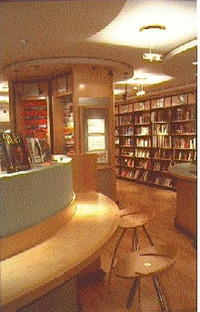 Well-designed interior of Browsers Bookshop, Woodbridge