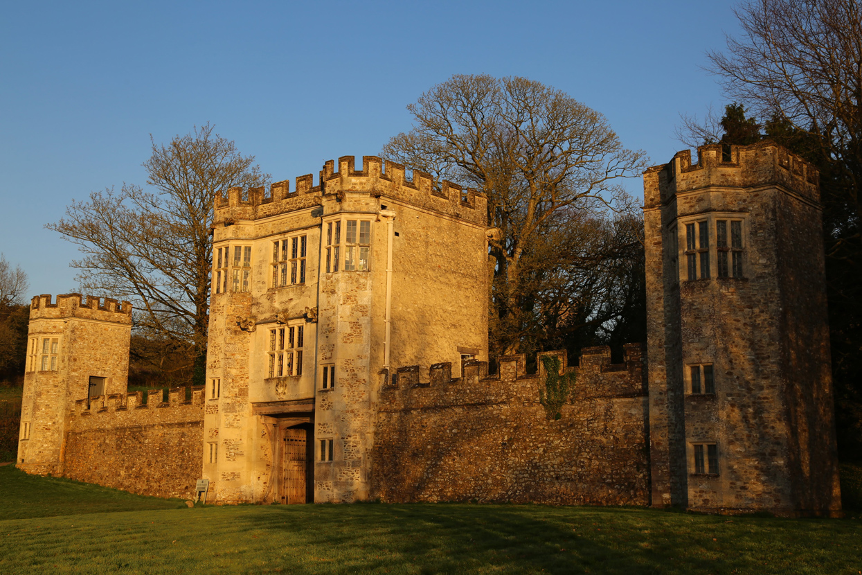 Colour photograph of the façade of Shute Gatehouse.